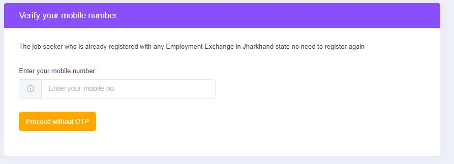 New job seeker registration