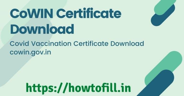 CoWIN Certificate Download