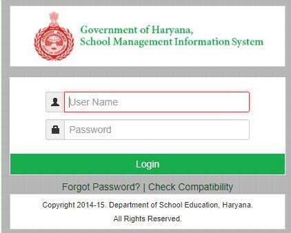 mis portal haryana Login